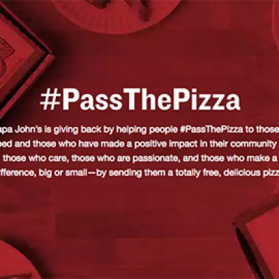 Papa John's: Pass The Free Pizza