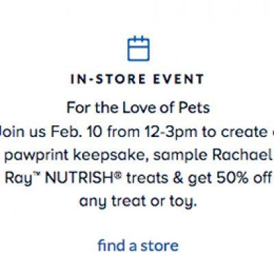 PetSmart: Free Pawprint Keepsake - Feb 10