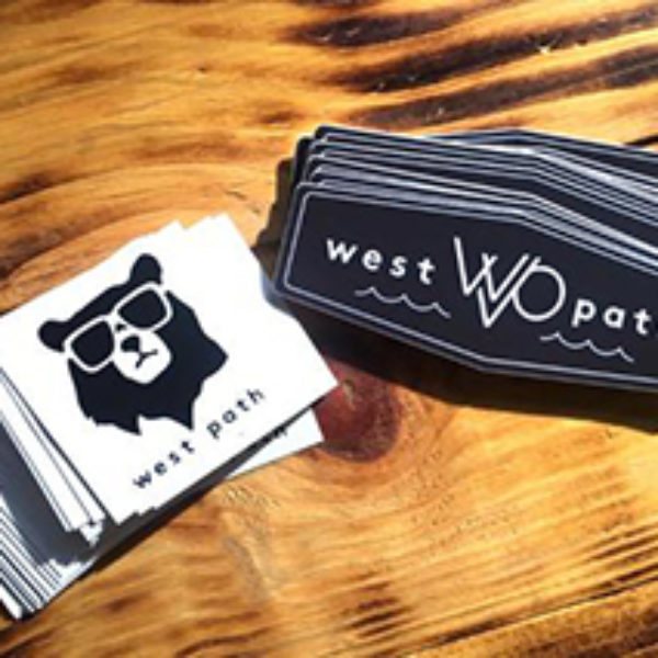 Free West Path Stickers