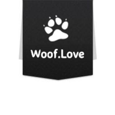 Free Woof Love Sticker