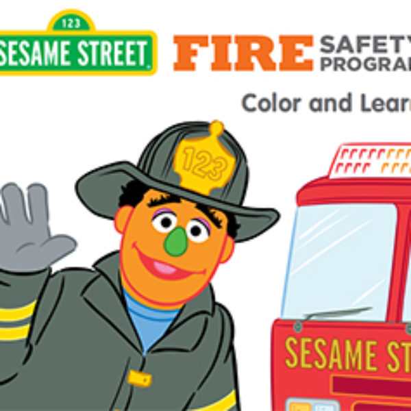 Free Sesame Street Fire Safety Coloring Page