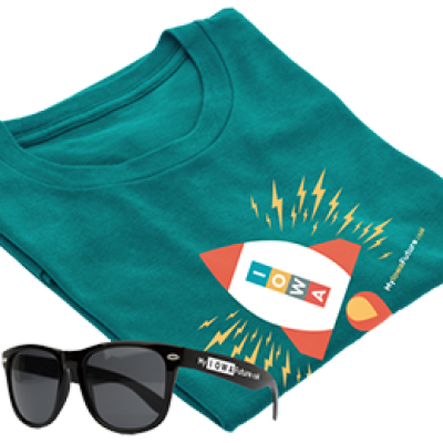 Free Iowa T-Shirt & Shades