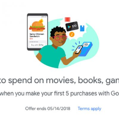 Google Play: Free $10 W/ 5 Purchases