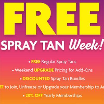 Sun Tan City: Free Spray Tan Week - March 5-11