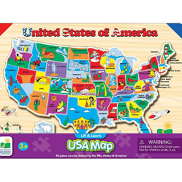 Lift & Learn USA Map Puzzle Just $8.46