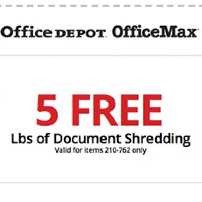 Office Depot & OfficeMax: Free Shredding
