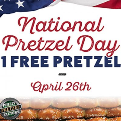Philly Pretzel Factory: Free Pretzel - April 26