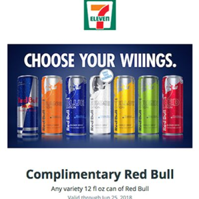 Free Red Bull @ 7-Eleven