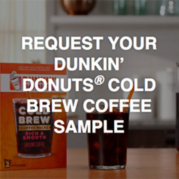 Free Dunkin' Donuts Cold Brew Samples