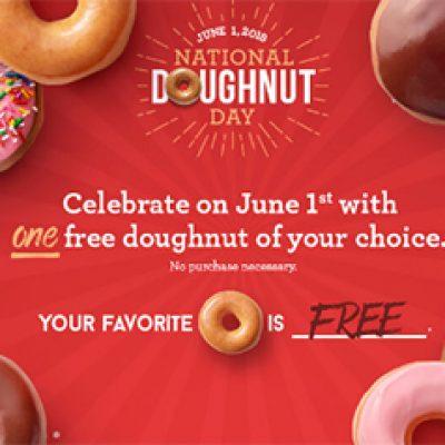 Krispy Kreme: Free Doughnut - June 1st