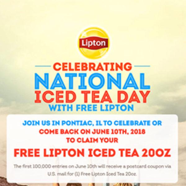 Free 20oz Lipton Iced Tea
