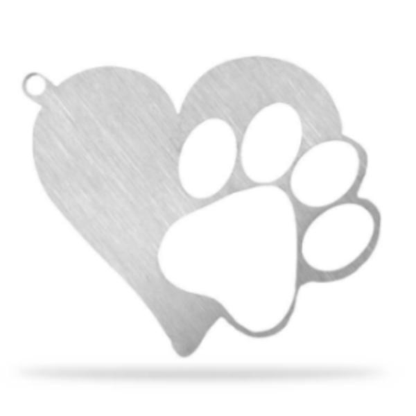 Free Heart Paw Keychain