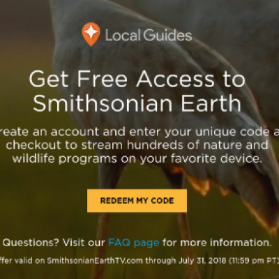 Free Smithsonian Earth Access