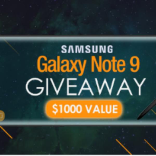 Win a Samsung Galaxy Note 9