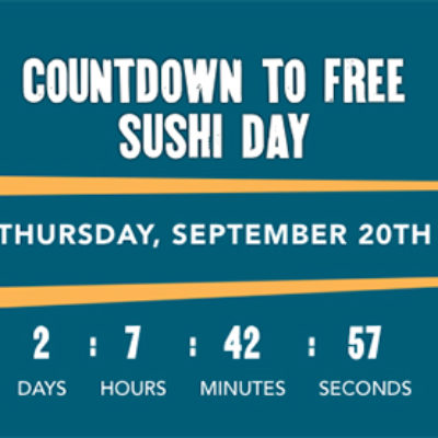 P.F. Chang's: Free Sushi Day - Sep 20
