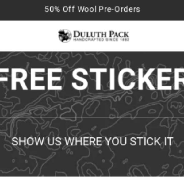 Free Duluth Pack Sticker