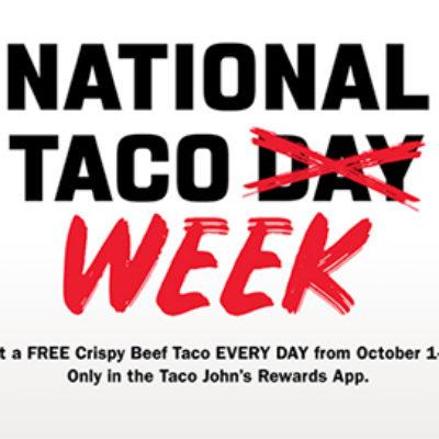 Taco John's: Free Taco - Ends Today