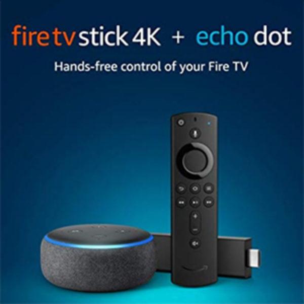Fire TV Stick 4K + Echo Dot Bundle Just $59.98