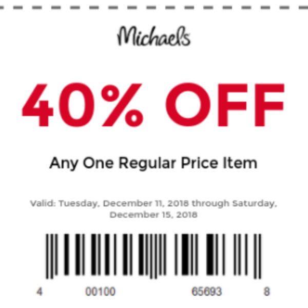 Michael's: 40% Off One Item Coupon