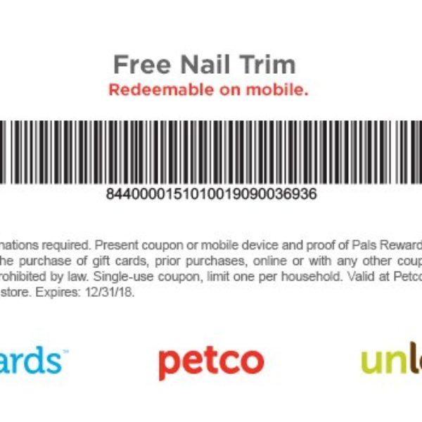 Petco: Free Dog Nail Trim - Expires 12/31