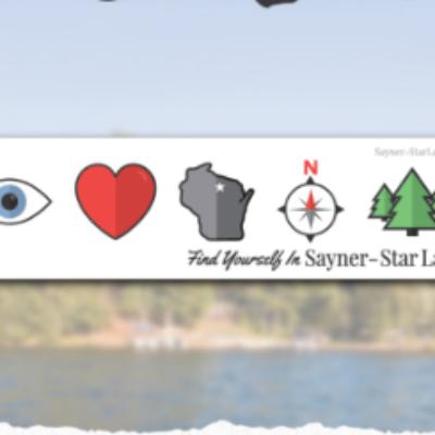 Free Sayner-Star Lake Bumper Sticker