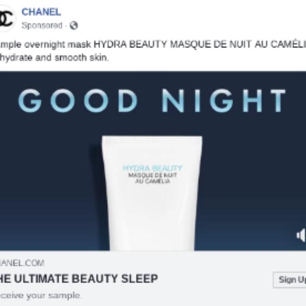 Free Chanel Hydra Beauty Mask Sample